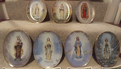 """Bradford Exchange Plates """"Visions of Our Lady"""" Original Authentic Collection"""