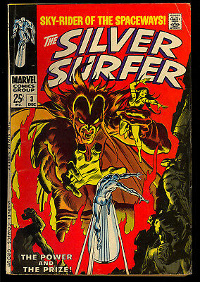 Silver Surfer #3 Nice Silver Age Marvel Giant Comic 1968 VG+