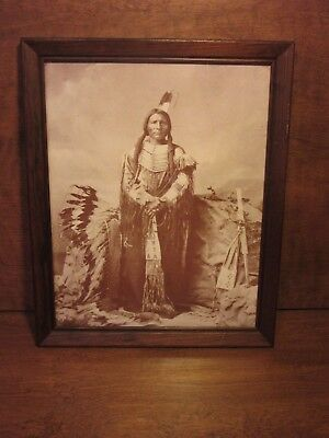 Old West Collectors Series Indian Print LITTLE BIG MAN Ogalalla Dakota Sioux