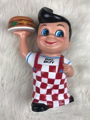 "Big Boy 1999 Coin Bank Elias Brothers Plastic 8"" Food Americana"