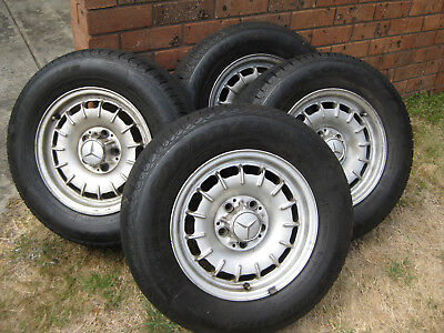 126 400 21 02 Mercedes W126 Mag Wheels Incl Tyres