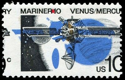 USA Space - 1973 Mariner 10 issue with MAJOR ERROR - BLACK SHIFTED