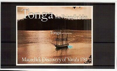 M2683sbs Tonga Friendly Isles $1 Yacht Speciman Mini Sheet