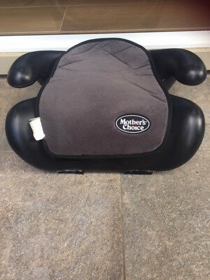 Child's car seat booster, brand Mother's Choice, black in colour