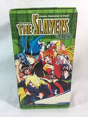 The Slayers Try Japanese Anime VHS Box Set 4 vhs Animation Rare 2000