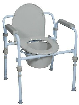 Folding Steel Commode | Brand New | Fast Ship | Top Seller | Discreet Packaging