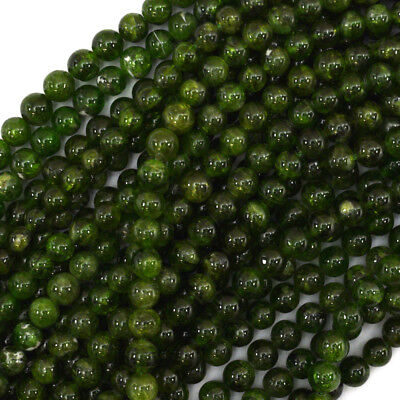 """5mm Russian green chrome diopside round beads 15.5"""" strand"""