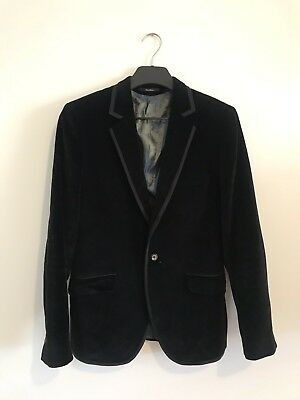 Men's Ted Baker Black Velvet Blazer Size 3
