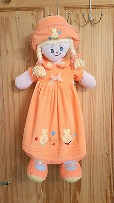 Hanging nappy organizer / bag  - Orange happy doll