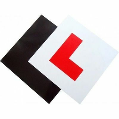 2 X UK Legal L Plates Fully Magnetic Backing Weatherproof Learner Driver