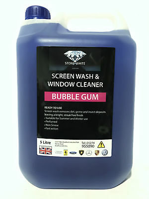 5L Bubblegum Screenwash Concentrated Car Windscreen Washer Fluid FREE DELIVERY