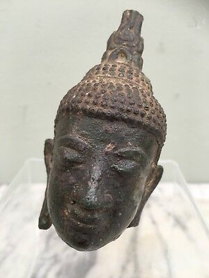Wonderful 18th / 19th Century (possibly earlier) Bronze Buddha Head