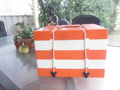 Vintage Retro Pac-A-Pic Picnic Set Made in England Orange and White