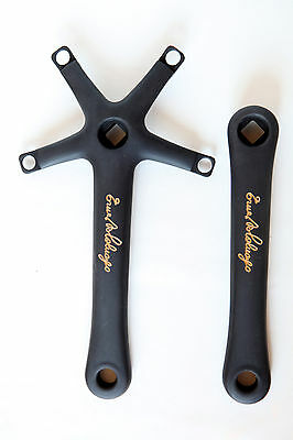 Campagnolo Record 10 speed 170mm ANODIZED MAT BLACK COLNAGO PANTO crank arms
