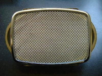 """NEW OLD STOCK Classic Car Radio Speaker & Re-chromed 7"""" x 5"""" grille. 3 Ohm."""