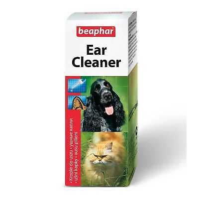 Beaphar EAR CLEANER Dog Cat Wax Irritation Cleans Health Protects