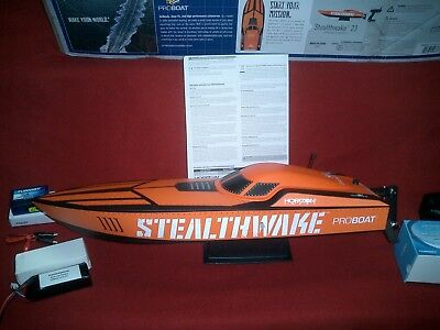 New ProBoat Stealthwake 23 Converted to Brushless and Running 3S & 4S LiPo RTR.
