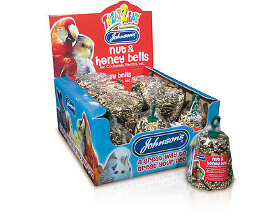 Johnsons Cockatiel and Parrot Cage Bird Nut Honey Bell Treats FREE P&P