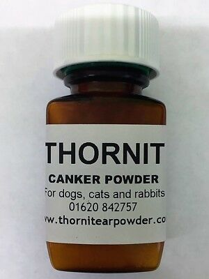 Thornit Canker Powder 20g MITE TREATMENT for Rabbits, Cats and Dogs Scratching