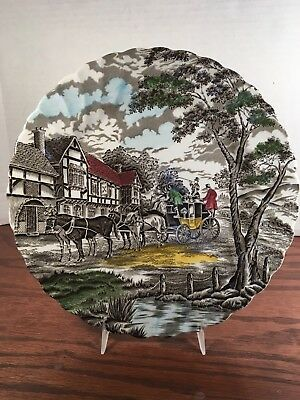 Myott Royal Mail  Multi-Color Fine Staffordshire Ironstone England Dinner Plate