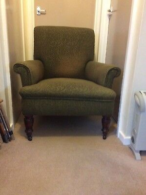 Victorian armchair on castors needs covering project for someone