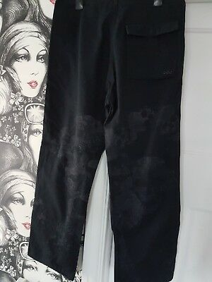 Maharishi size 12 black embroidered combats trousers NEW