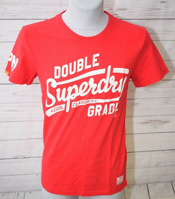 Superdry Herren T Shirt Rot Indiana Red Gr. M, Rot Indiana
