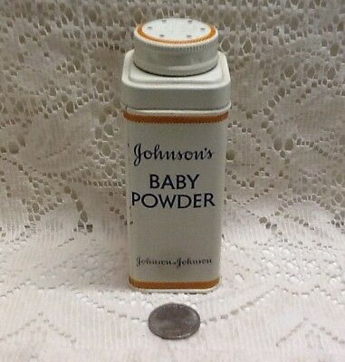 Vintage Johnson & Johnson Baby Powder Advertising Tin