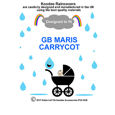 koodee uk Raincover To fit GB MARIS CARRYCOT BNIP