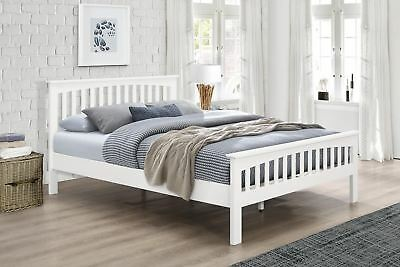 Stanstead White Solid Wood Bed Frame 4ft - Small Double