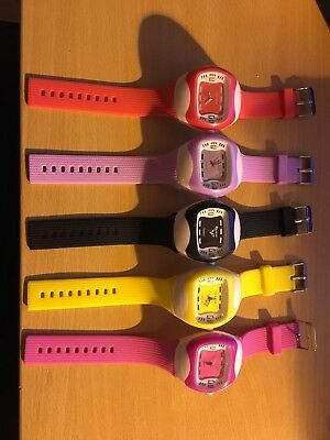 Wholesale Job Lot coloured rubber strap watches 5 mixed