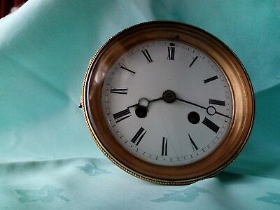 8 day French Clock Movement - backplate signed Hy Marc Paris