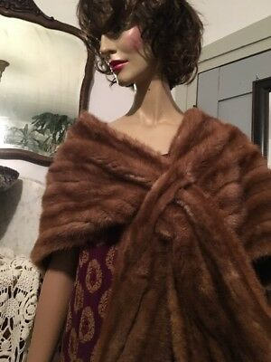 50's Mink Stole Rollins Furs Deitroit Light Honey Just Beautiful & Glamorous