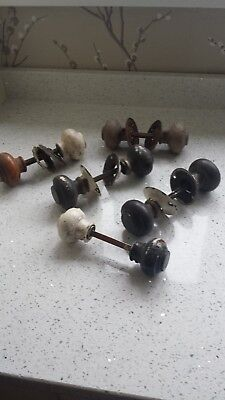 Job lot of vintage  wooden door knobs