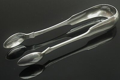 Scottish Provincial Silver Sugar Tongs, ABERDEEN, William Whitecross c.1824