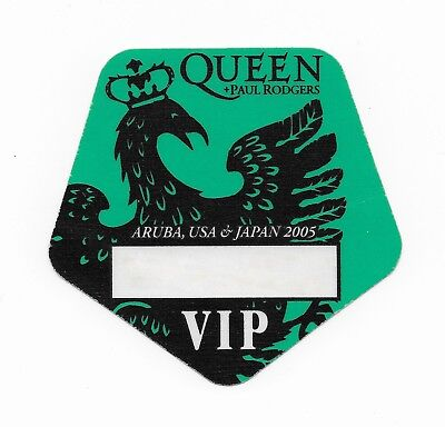 QUEEN + PAUL RODGERS  :  2005 Tour VIP Guest Pass - Unused / Mint