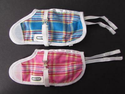 BREYER HORSES Set of 2 Plaid Blankets for Horses - 1 Blue and 1 Pink