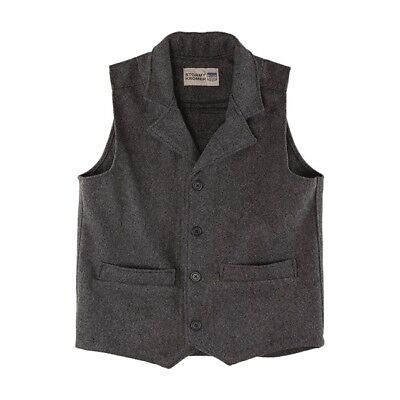 Stormy Kromer Western Vest 52020 Charcoal Large NWT Made in the US