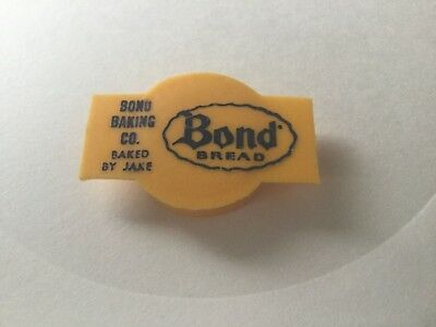 VINTAGE Bond BREAD ADVERTISING  PLASTIC Bottle CAP
