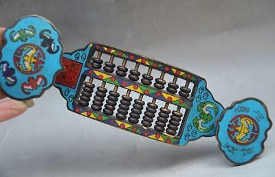 Beautiful Chinese Cloisonne Handmade Abacus Statue