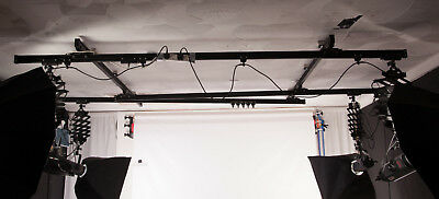 Photography Studio Ceiling Light Rails including 5 Pantographs and runners