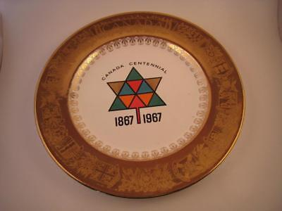 Canada Centennial Commemorative Plate 1867-1967 Gold Trim Georgian China USA