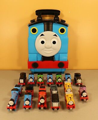 Thomas And Friends Take N Play Take Along Carrying Carry Case with Train Lot