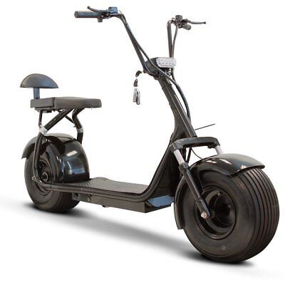 New Ewheels Fat Tire Electric Scooter with Wireless bluetooth speaker - Black