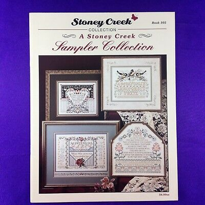"Vintage Cross Stitch Booklet Chart ""Sampler Collection"" by Stoney Creek"