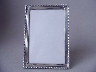 Beautiful Antique Sterling Silver & Wood Photo Frame 1923