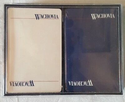 "Collectible advertisement playing cards ""Wachovia Bank"" double deck (88 gxz)"