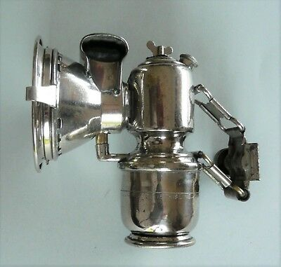 Ancienne lampe de velo vesta, Lanterne carbure, Carbide lantern for bicycle lamp