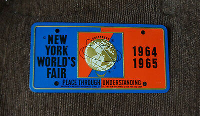 Unused 1964-1965 New York World's Fair Ny Bicycle License Plate