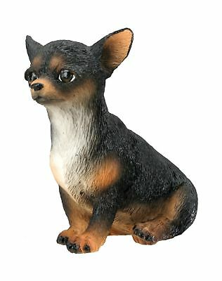 Chihuahua Puppy / Dog (Black) - Collectible Figurine Statue Sculpture